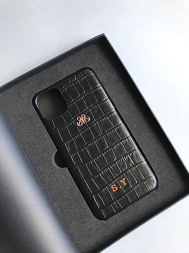 S6 IPHONE 11 PRO MAX SİYAH CROCO - Thumbnail