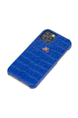 S6 IPHONE 12 PRO MAX SAKS MAVİ CROCO - Thumbnail