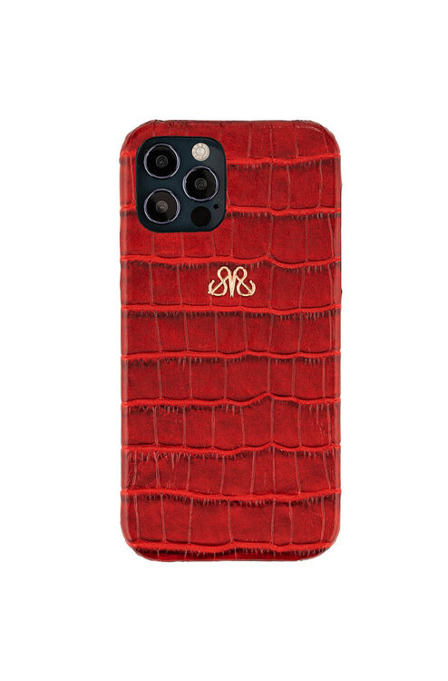 S6 IPHONE 12 PRO MAX KIRMIZI CROCO