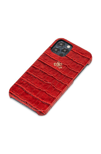 S6 IPHONE 12/12 PRO KIRMIZI CROCO - Thumbnail