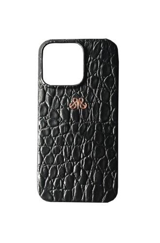 - S6 IPHONE 13 PRO MAX KILIF SİYAH BABY CROCO